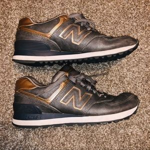 New Balance Rose Gold and Gray Size 7